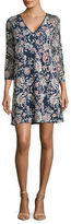 Adrianna Papell Plus Embroidered Shift Dress