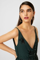 French Connection Aurora Embellished Wrap Top