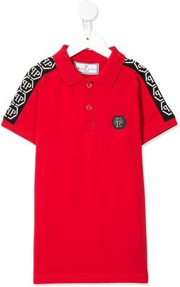 Philipp Plein Junior Hexagonal Logo Polo Shirt