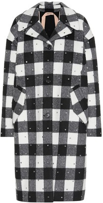 N°21 Checked wool-blend coat