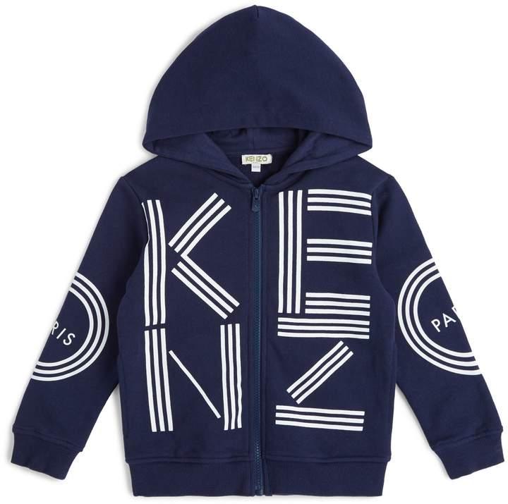 Kenzo Kids Logo Zip Front Hoodie