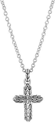 John Hardy Classic Chain Sterling Silver Cross Pendant Necklace