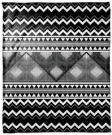 Multi Trend Boho Tribal Throw Blanket in White/Black