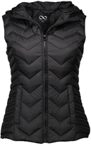 Blanc Noir Black Quilted Zip-Up Vest