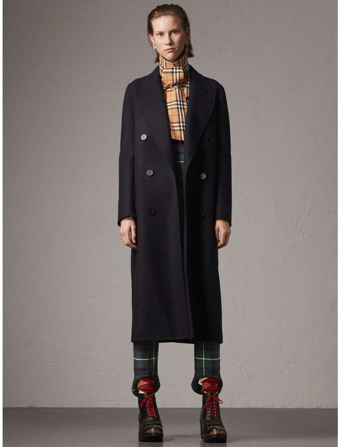 Burberry Felted Wool Double-breasted Coat