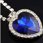 BST Pendant Necklaces BST Movie Titanic Heart of the Ocean Artificial Rhinestone Pendant Alloy Necklace