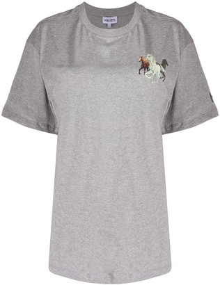 Kenzo horse-print cotton T-shirt