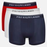 Polo Ralph Lauren Men's 3 Pack Boxer Shorts White/Red/Blue