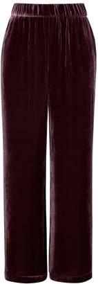 Eileen Fisher Plum Wide-leg Velvet Trousers