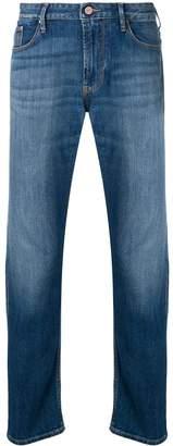 Emporio Armani faded slim fit jeans