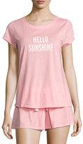 Kate Spade Hello Sunshine Shortie Pajama Set, Light Pink