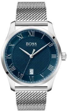 BOSS Men's Master Stainless Steel Mesh Bracelet Watch 41mm