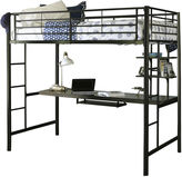 Asstd National Brand Pearson Twin Loft Bed Over Workstation