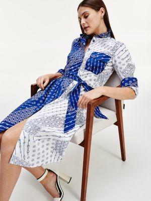 Tommy Hilfiger TH Monogram Logo Print Shirt Dress
