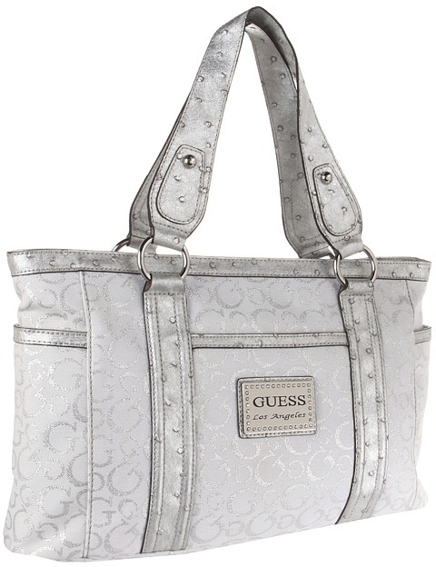GUESS Taluca Tote (Silver) - Bags and Luggage