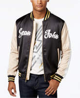 Sean John Men's Satin Bomber Jacket