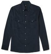 Dunhill Button-Down Collar Cotton-Corduroy Shirt