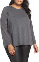 Eileen Fisher Plus Size Women's Round Neck Merino Sweater