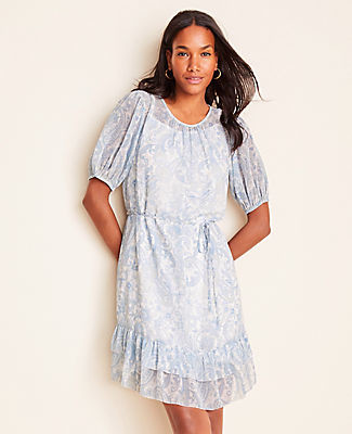 Ann Taylor Paisley Flare Dress