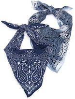 David & Young Women's Tie Dye Bandana - 2 Pack -Navy