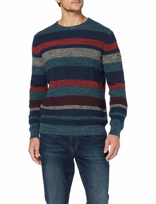 Camel Active Men's Crew Stripe Multicolor Jumper