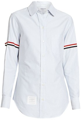 Thom Browne Classic Striped Button Down Shirt