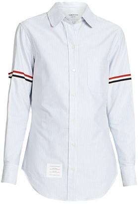 Thom Browne Classic Striped Button Down Shirt