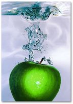 "KitchenArt ""Apple Splash II"" Canvas Wall Art by Roderick Stevens"
