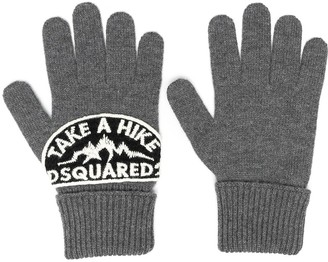 DSQUARED2 Logo-Patch Gloves