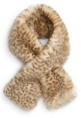 Jocelyn Animal Print Faux Fur Scarf