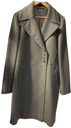Gucci Anthracite Wool Coat for Women