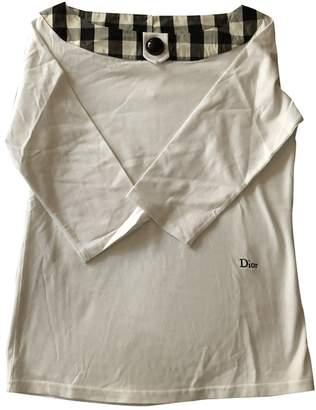 Christian Dior White Cotton Tops