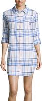 U.S. Polo Assn. Light Blue & White Plaid Button-Up Night Dress