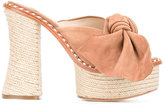 Paloma Barceló braided raffia sole sandals - women - Raffia/Leather/Suede - 36