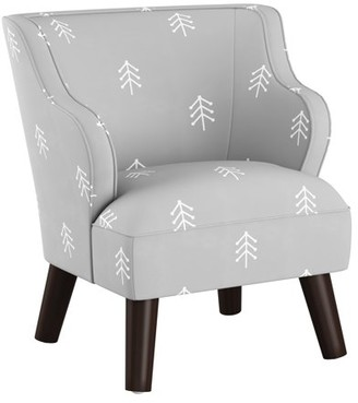 Skyline Furniture Kids Modern Chair in Line Tree Grey