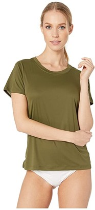 Hurley Quick Dry Surf Shirt (Olive Canvas) Women's Clothing