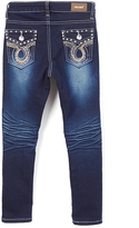 Indigo Wash White Thread Straight-Leg Jeans - Girls