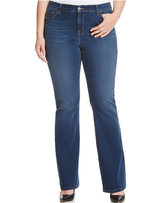 Style&Co. Style & Co. Plus Size Tummy-Control Marine Wash Bootcut Jeans