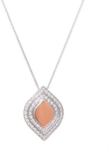 Salvini 18K White & Rose Gold Diamond Pendant Necklace