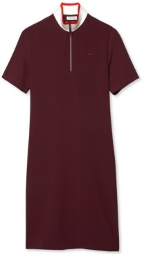 Lacoste Women's Short-Sleeve Twill Polo Dress