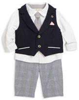 Miniclasix Baby's Three-Piece Perfectly Preppy Vest, Shirt & Pants Set