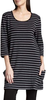 Joan Vass Striped Cotton Tunic