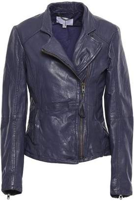 Muu Baa Muubaa Washed-leather Biker Jacket