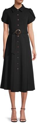 Calvin Klein Belted Midi Shirtdress