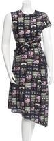 Carven Silk Cassette Tape Print Dress w/ Tags