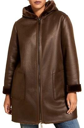 Marina Rinaldi, Plus Size Marina Sport Editore Reversible Faux Shearling-Trim Coat