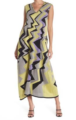 M Missoni Zigzag Print Maxi Dress