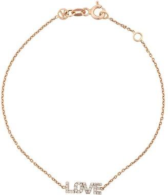 Kismet by Milka 14kt rose gold small Love diamond bracelet