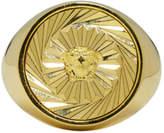 Versace Gold Round Swirl Medusa Ring