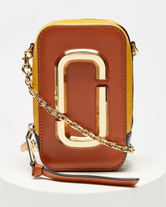 Marc Jacobs Women's Brown Leather bags - The Hot Shot Cross-Body Bag - Size One Size at The Iconic